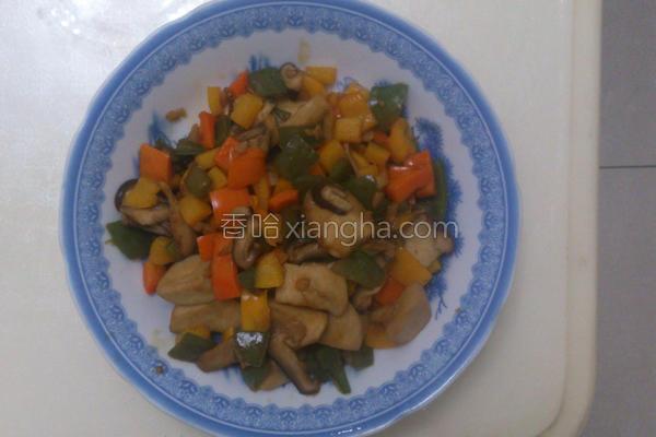蚝油炒椒菇的做法