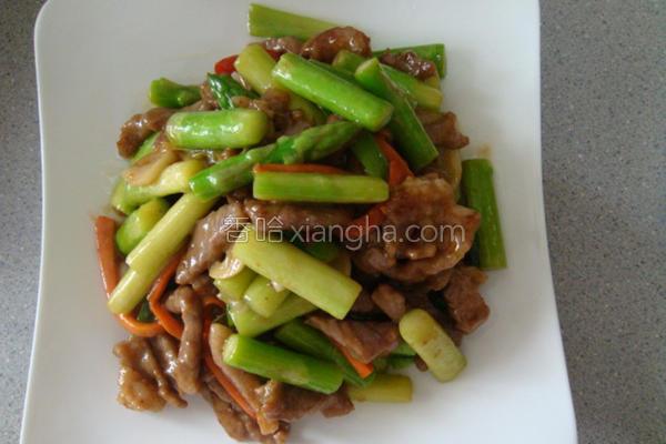 芦笋炒肉丝的做法
