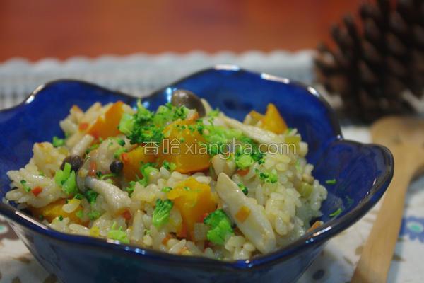日式味噌南瓜炊饭的做法