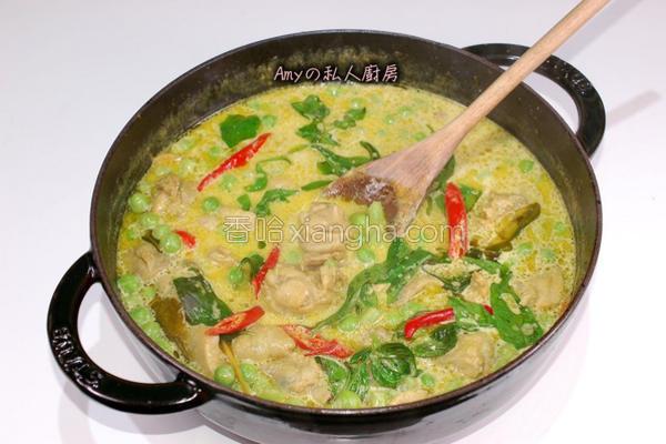 泰式绿咖哩鸡的做法