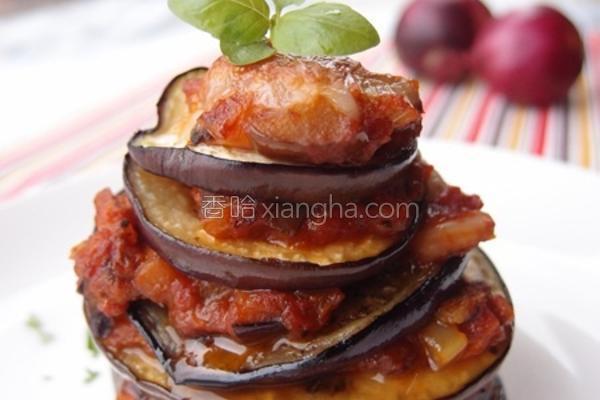意式焗烤千层茄子的做法