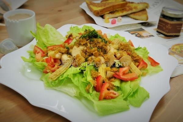 蟹肉温沙拉的做法