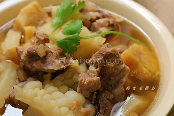 凤梨苦瓜排骨汤的做法