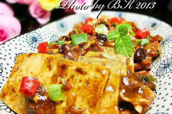 豆豉酱烧豆腐的做法