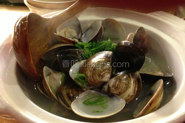 酒蒸蛤蛎板的做法