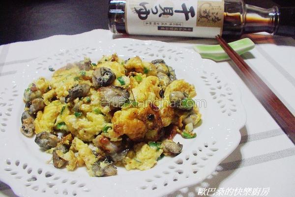 鲜蚵葱花炒蛋的做法