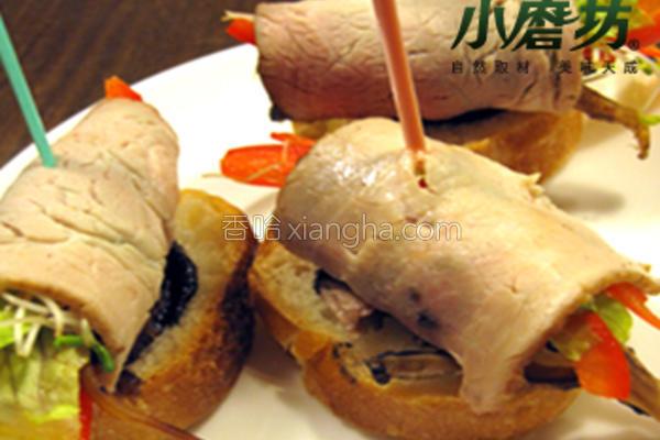 小磨坊蔬菜猪肉卷的做法