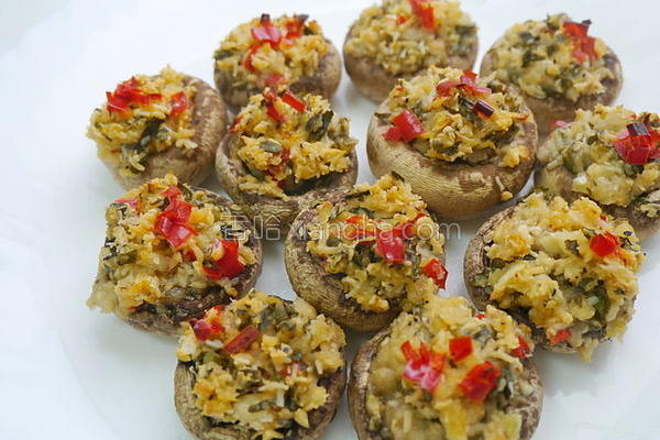 香烤洋菇的做法