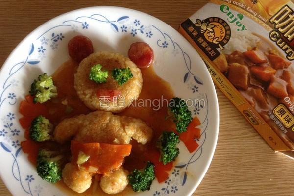 小熊咖哩米饼的做法