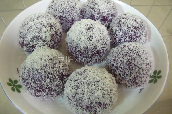 紫薯麻糬的做法