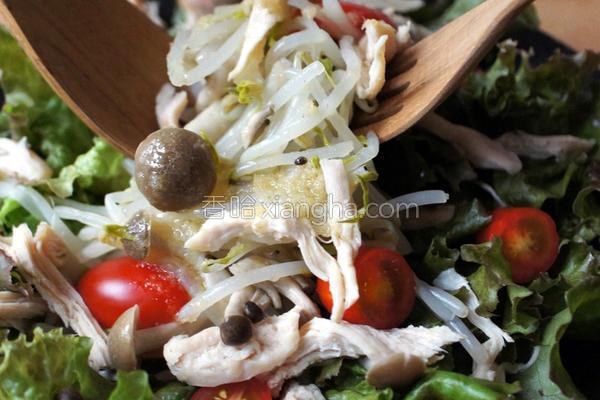 银芽鸡肉姜泥沙拉的做法