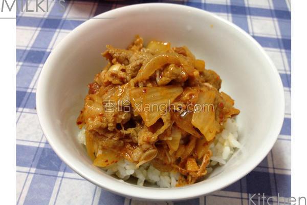韩式泡菜炒猪肉的做法