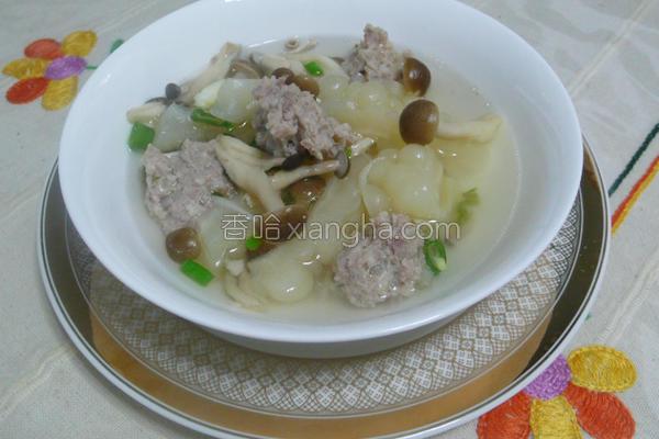 苦瓜肉丸汤的做法