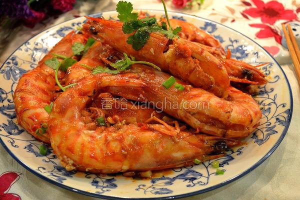 酸辣大花虾的做法
