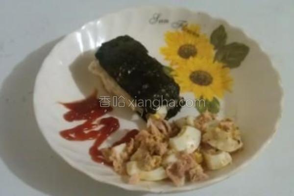 鲔鱼蛋土司卷的做法