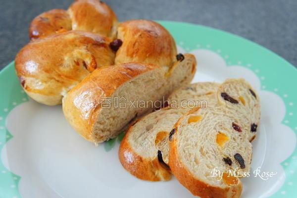 果干辫子面包的做法