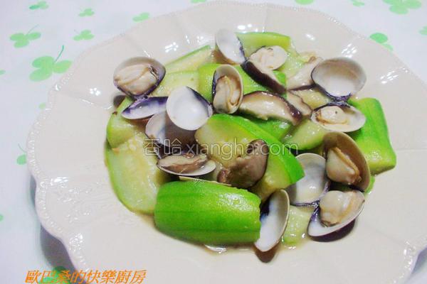 蛤蜊鲜菇炒丝瓜的做法