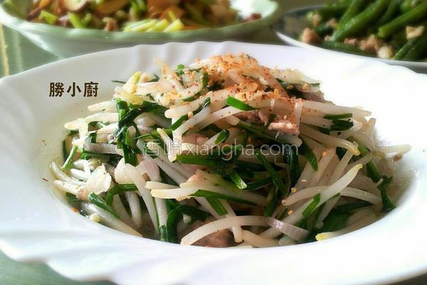 肉丝炒豆芽菜的做法