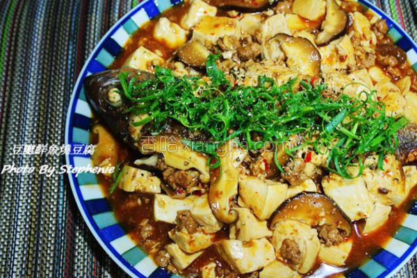 豆瓣鲜鱼烧豆腐的做法