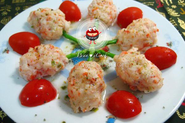 鲜虾镶芦笋的做法