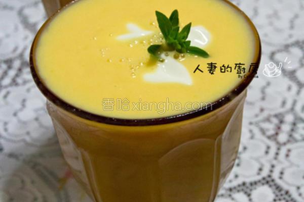 芒果优酪乳冰沙的做法