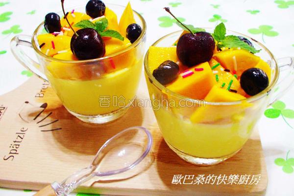 芒果奶酪的做法
