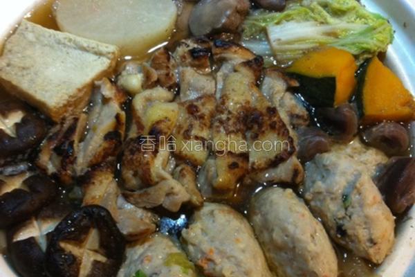 日式鸡肉锅的做法