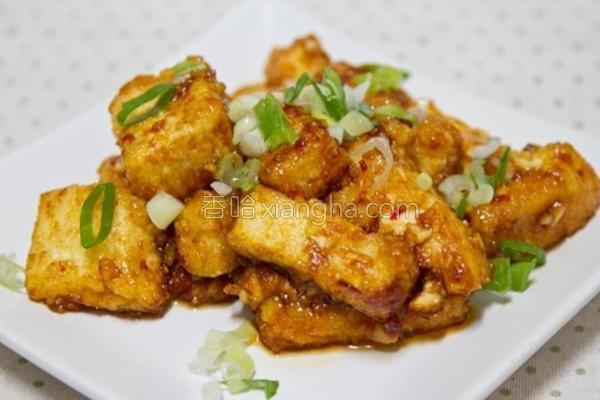 蒜味甜辣黄金豆腐的做法