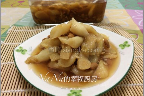 豆酱腌嫩姜的做法