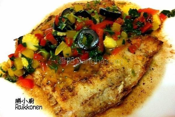 柠香橄榄鳕鱼排的做法