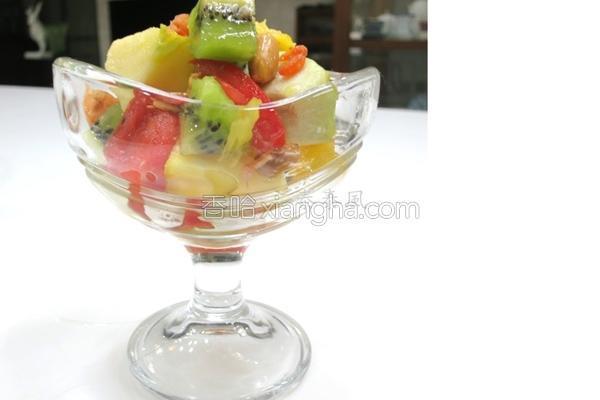 凉拌水果的做法