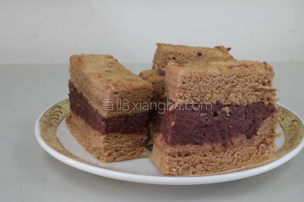 红豆咖啡戚风蛋糕的做法