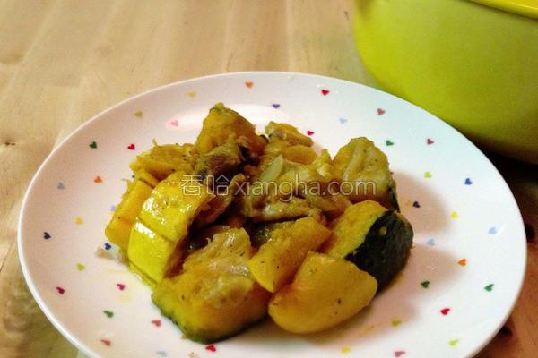 金黄蔬菜炖鸡的做法
