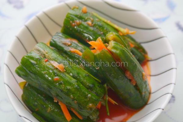 韩式凉拌小黄瓜的做法
