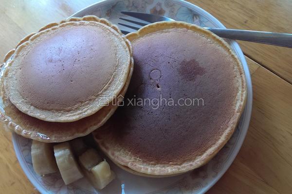 豆浆蜂蜜美式松饼的做法