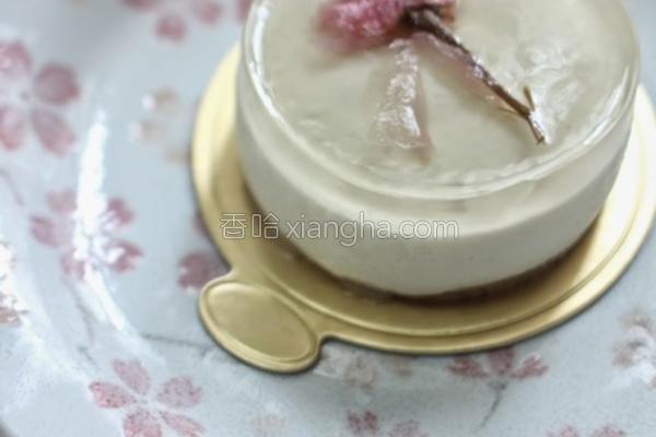 樱花豆腐芝士蛋糕的做法
