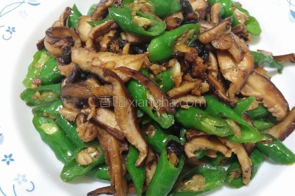 青龙炒香菇的做法