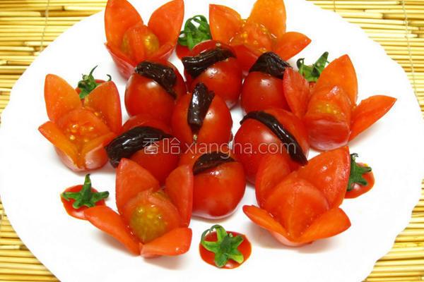 番茄花的做法