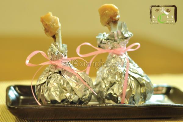 蒜子锦囊鸡的做法