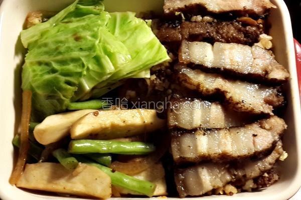 咸猪肉蔬菜锅的做法
