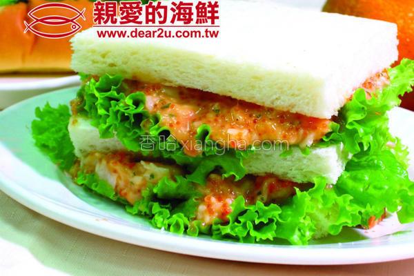 龙虾沙拉吐司的做法