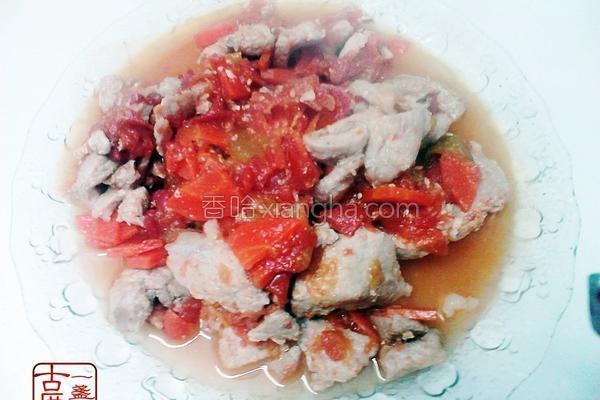 番茄红萝卜炖猪肉的做法