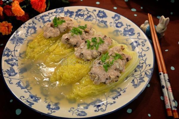 香菇猪肉烩娃娃菜的做法