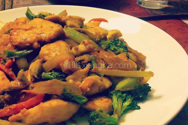 辣味噌炒鸡肉的做法