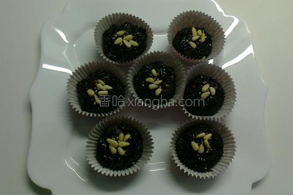养生紫米桂圆糕的做法