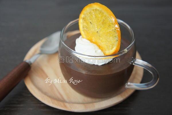柳橙巧克力慕斯杯的做法