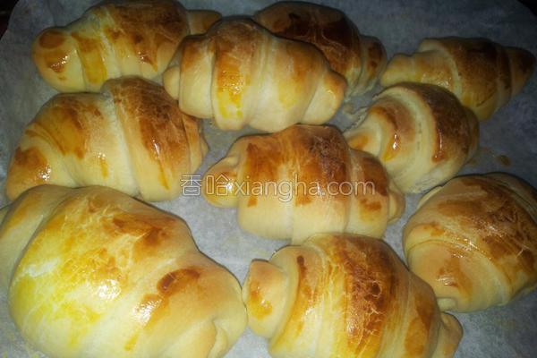 奶油牛角面包的做法