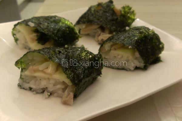 海苔菇菇饭卷的做法