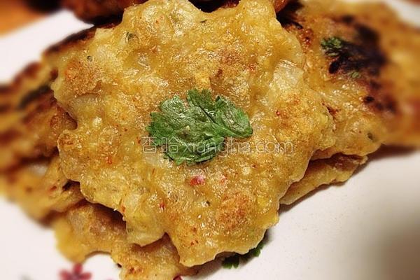 绿豆绞肉煎饼的做法