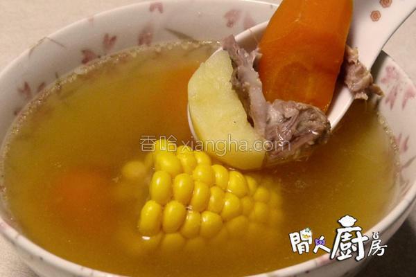 猪骨粟米鬚薯仔汤的做法